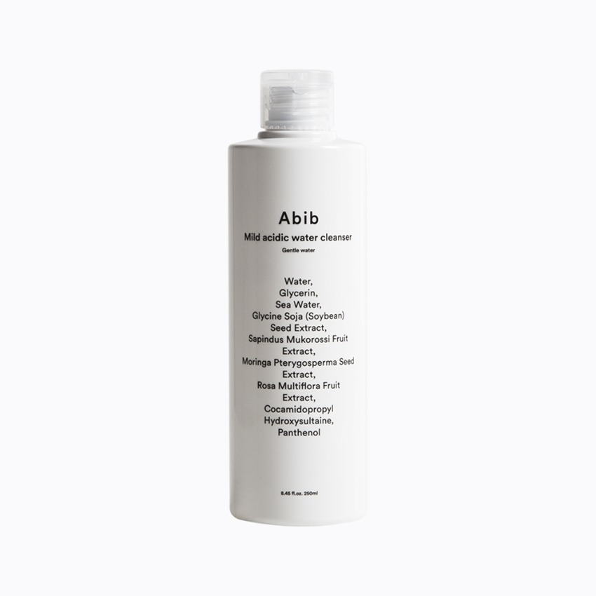 Mild acidic water cleanser